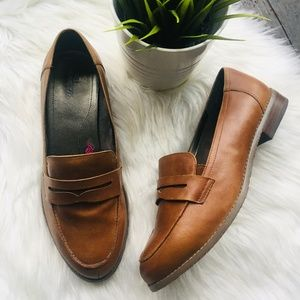 ROS HOMMERSON Delta Penny Loafers 9 Wide 9WW